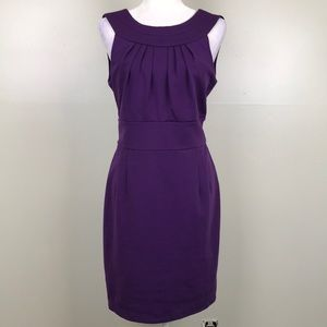 BANANA REPUBLIC Sleeveless Purple Sheath Dress